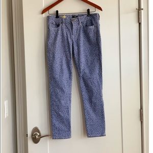 New worn! Jcrew periwinkle with white dot jeans